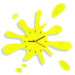 SENTOP Zegar ścienny słońce Z18K żółty