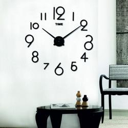 SENTOP Zegar ścienny do salonu ELISKA XXL S042B również czarny
