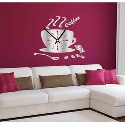 Kolorowy zegar ścienny VESTA, kolor: lustro, srebrny