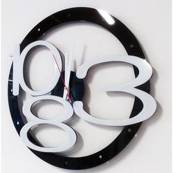 Ceas de perete modern design exclusiv culoare: negru, alb, mâini culoare: alb