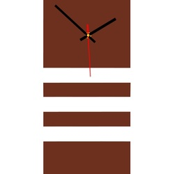 Elegancki 3D zegar ścienny NATZ, kolor: brązowy, biały