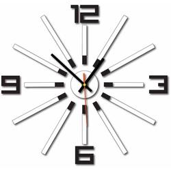 3D Zegar kolorowy WARRAS, kolor: czarny, biały