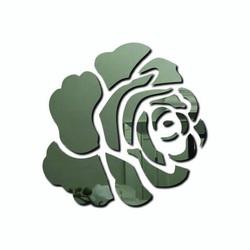 3D Naklejka ścienna - czerwona róża