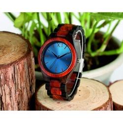 Drewniany zegarek na rękę- Niebieska Dwanaście-Yisuya