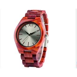 Drewniany zegarek na rękę- Czerwony dwanaście-Yisuya