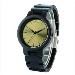 Drewniany zegarek na rękę- Złota dwanaście-Yisuya