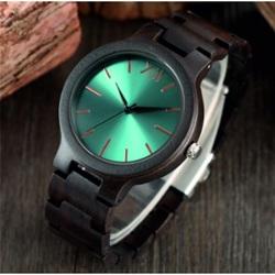 Luksusowy drewniany zegarek na rękę- Niebieska 12-Yisuya