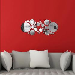 Lustro okręgi DIY dekoracji. 600x400x3 mm