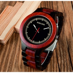 Zegarek na rękę z drewna - COMP