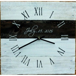 Drevené hodiny as rím biela farba nástenné .