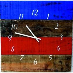 Sentop Drewniany zegar ścienny z kolorowego akrylu D40151