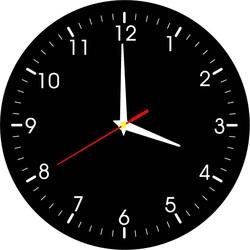 Zegar ścienny dla wygody - materiał HDF, naklejka