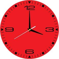 Stylowy zegar ścienny HDF