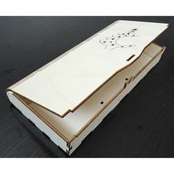 Pudełko wykonane z drewna, wymiary: 27x12x3,5 cm