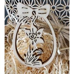 Drewniana dekoracja na Wielkanoc, wymiary: 80x54 mm