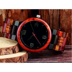 Nowoczesny zegarek wykonany z drewna-GEORGIA-Yisuya