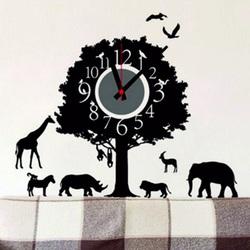 Hodiny nástenné strom života a zvieratá . 3M Folia rozmer 25x90