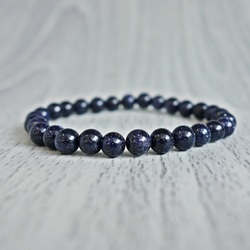 Bransoletka - błękitny awenturyn - Ø FI 4 mm