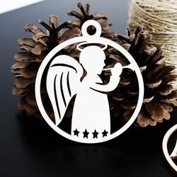 Ozdoba choinkowa - Mały anioł, rozmiar: 79x90mm