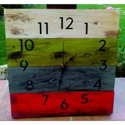 Sentop - Dřevěné nástěnné hodiny Duše domova D40175 i zelené