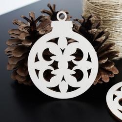 Świąteczne dekoracje z radości wykonane z drewna, wymiary: 79x90 mm