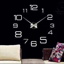 Nástenné hodiny 3D sociálny status zrkadlo sivé