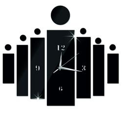 Zegar ścienny przykleja się jako prezent DIY HOJOKER l 3D godzin