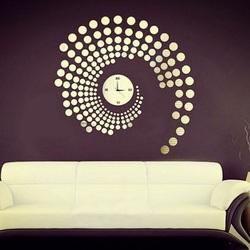 Zegary ścienne z nakrapianym lub lustrzanym PlexiPMMA PLLA