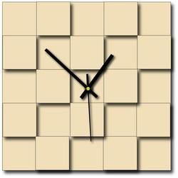 Nowoczesny kwadratowy zegar ścienny (zegar na plastikowej ścianie) DEKOFER