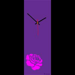 Zegar ścienny różany (nowoczesny zegar na ścianie) kolor: różowo-różowy