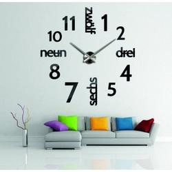 Nowoczesny zegar na ścianie DIY DRYWALL