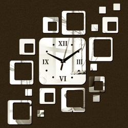 Zegar na ścianie nowoczesny kwadrat 50x40 cm FIGARO