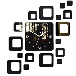 Zegar na ścianie nowoczesny kwadrat 50x40 cm FIGARO LUSTERKO