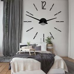 Nowoczesny zegar ścienny przyklejania SOFIA XXL DIY zegar naklejka
