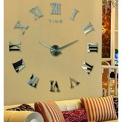 Zegar ścienny rzymski Zegar ścienny DIY 3D na ścianie jako obraz HUGO
