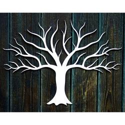 Malowanie dekoracji drewnianej na ścianie wykonanej ze sklejki jesiennej Jesienią Wymiar: 300 x 411 mm