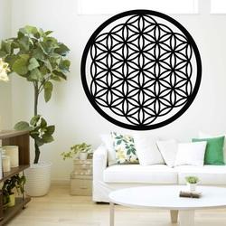 Drewniane zdjęcie mandali na ścianie z drzewa sklejki XENNA