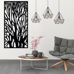 Drewniany obraz na ścianie sylwetka gałęzi z drzewa sklejki Fibis