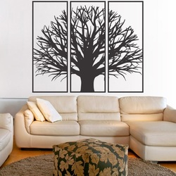 Malowanie ścian drewnianej gałęzi sklejki w ramce / 3 sztuki ramy /KANANA
