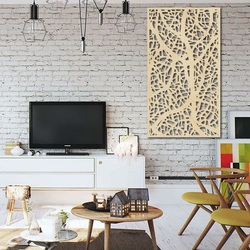 Drewniany obraz na ścianie wykonany ze sklejki drewnianej Topol LOGOTECH