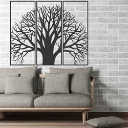 Wooden picture on the wall of a wooden plywood tree of peace KAMOV