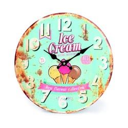 Moderné hodiny zmrzlina   MDF . Fi 30 cm