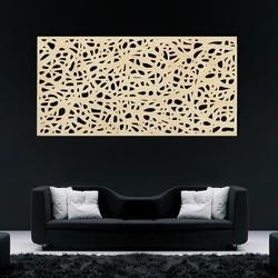Drewniany obraz na ścianie wykonany ze sklejki Topol