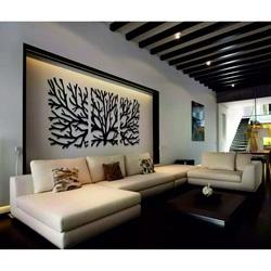Drewniany obraz na ścianie gałęzi topoli ze sklejki. Obraz składa się z trzech części. MAVAMF