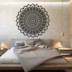 Mandala kwiat spokojny drewniany obraz na ścianie ze sklejki SILVIA