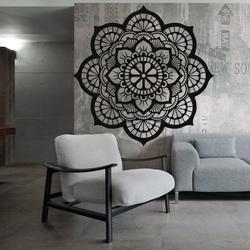 Obraz drewniany mandali życia na ścianie ze sklejki HELLA