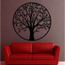 Nowoczesny obraz na ścianie   drzewo wykonane ze sklejki z topoli drewnianej POHODAK