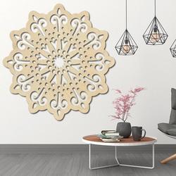 STYLY nowoczesny obraz na ścianie kwiatu wykonany ze sklejki BELFON czarny