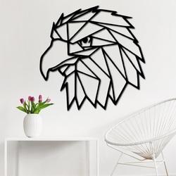 STYLE Rzeźbiony obraz   na ścianie orzeł geometryczne kształty PR0234 czarny