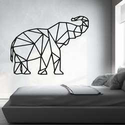 XMOM rzeźbione obraz na ścianie geometryczne kształty słoń PR0236 czarny
